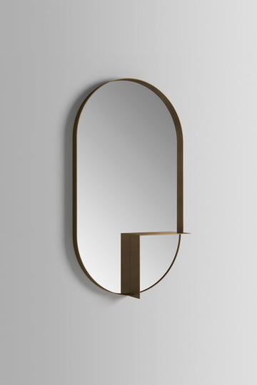 Ex.t Nouveau Shelf Mirror Bronze