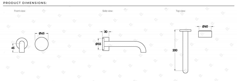 HALO X Wall Set With 200mm Spout