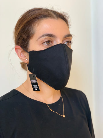 BLACK FACE MASK AUSTRALIA 100% COTTON AND WASHABLE