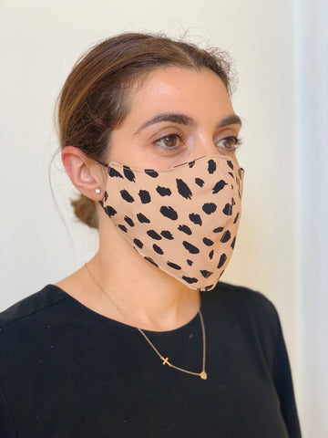 CHEETAH FACE MASK AUSTRALIA 100% COTTON AND WASHABLE