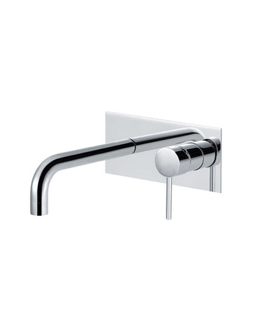 Meir Round Wall Basin Mixer and Curved Spout