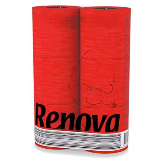 RENOVA 3ply Toilet Paper (6 roll) - Red