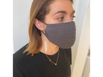 GREY FACE MASK AUSTRALIA 100% COTTON AND WASHABLE