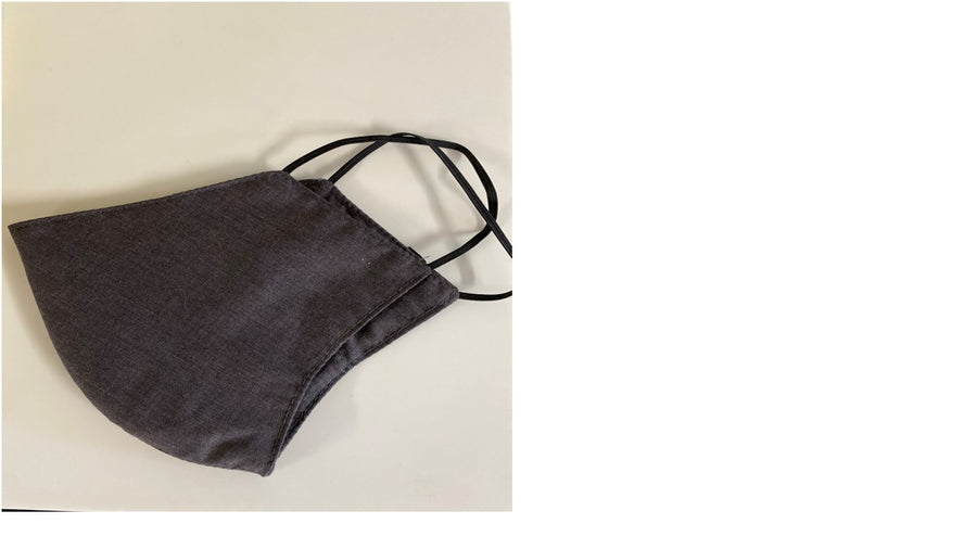 DARK GREY FACE MASK AUSTRALIA 100% COTTON AND WASHABLE