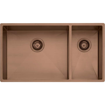 OLIVERI Spectra 1 & 1/2 Bowl Copper Sink | The Source - Bath • Kitchen • Homewares
