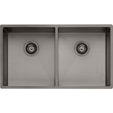 OLIVERI Spectra Double Bowl Gunmetal Sink | The Source - Bath • Kitchen • Homewares