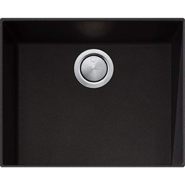 OLIVERI Santorini Black Large Bowl Undermount Sink | The Source - Bath • Kitchen • Homewares