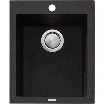 OLIVERI Santorini Black Standard Bowl Topmount Sink | The Source - Bath • Kitchen • Homewares