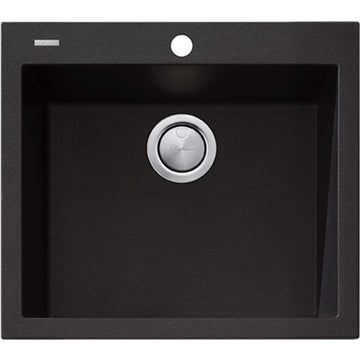 OLIVERI Santorini Black Large Bowl Topmount Sink | The Source - Bath • Kitchen • Homewares