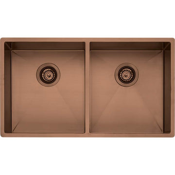 OLIVERI Spectra Double Bowl Copper Sink | The Source - Bath • Kitchen • Homewares