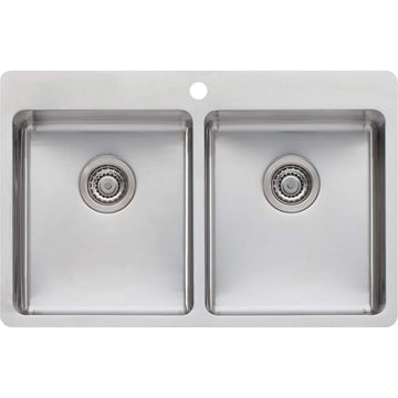 OLIVERI Sonetto Double Bowl Topmount Sink | The Source - Bath • Kitchen • Homewares