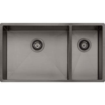 OLIVERI Spectra 1 & 1/2 Bowl Gunmetal Sink | The Source - Bath • Kitchen • Homewares