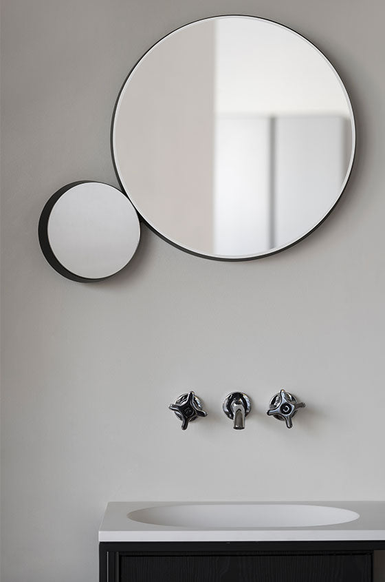 Ex.t Gravity Round Mirror White