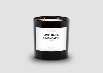 THEMATIKOS Lime, Basil, & Mandarin Candle 350g | The Source - Bath • Kitchen • Homewares