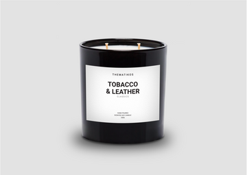 THEMATIKOS Tobacco & Leather Candle | The Source - Bath • Kitchen • Homewares