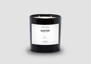 THEMATIKOS Easter Candle 350g - Scent / fragranceof egg hunts, family feasts, warm hot cross buns in Easter | The Source - Bath • Kitchen • Homewares
