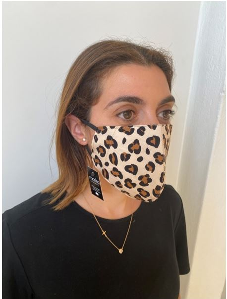 LEOPARD FACE MASK AUSTRALIA 100% COTTON AND WASHABLE