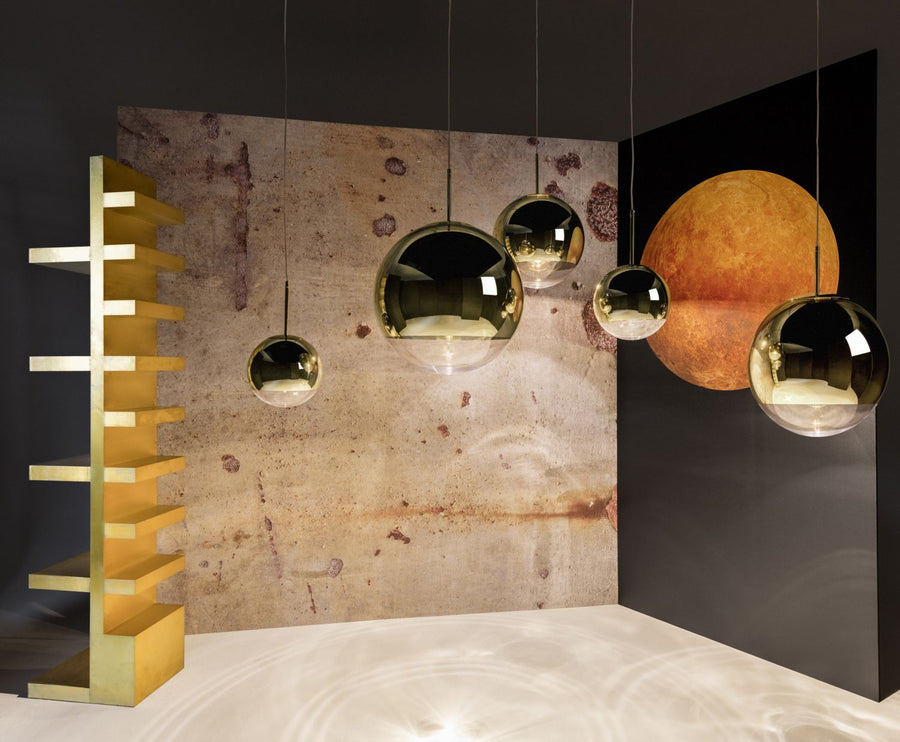TOM DIXON Mirror Ball Gold Pendant (50cm) | The Source - Bath • Kitchen • Homewares