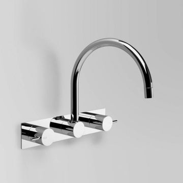 ASTRA WALKER Icon Wall Set with Swivel Spout on Backplate | The Source - Bath • Kitchen • Homewares
