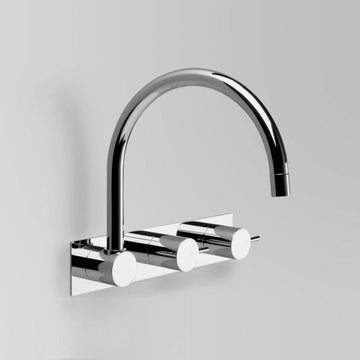 ASTRA WALKER Icon Wall Offset with Swivel Spout on Backplate | The Source - Bath • Kitchen • Homewares