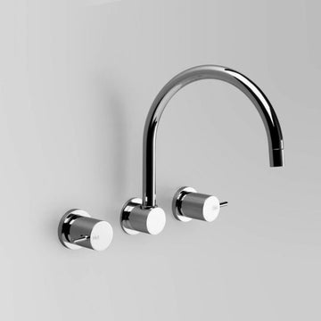 ASTRA WALKER Icon Wall Set with 230mm Swivel Spout | The Source - Bath • Kitchen • Homewares