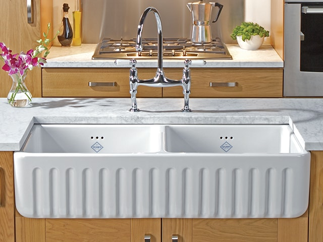 Shaws Ribchester Classic Double Bowl Fluted Front Sink
