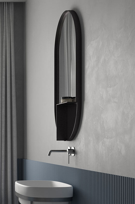Ex.t Nouveau Shelf Mirror Black