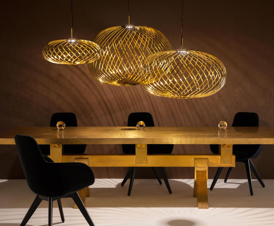 TOM DIXON Spring Pendant Small Brass LED | The Source - Bath • Kitchen • Homewares