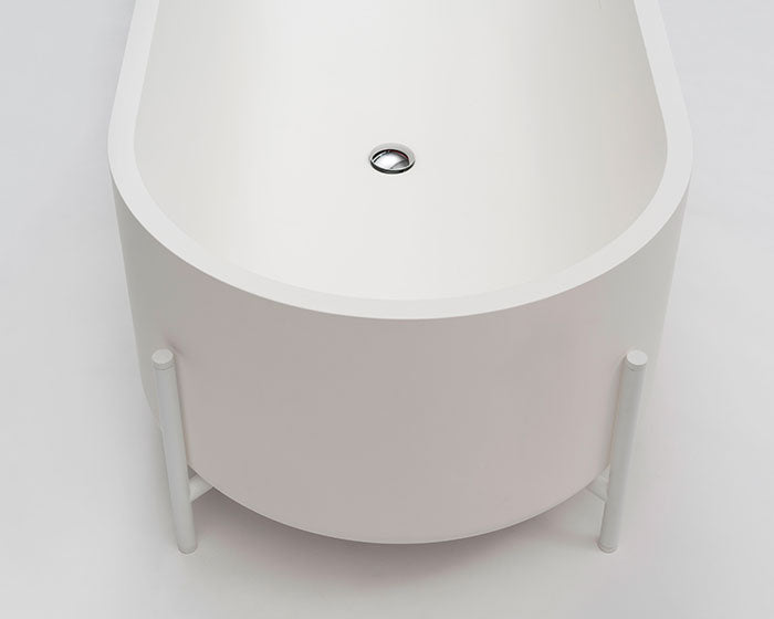 Ex.t STAND - Bathtub with swivel siphon. White Stand