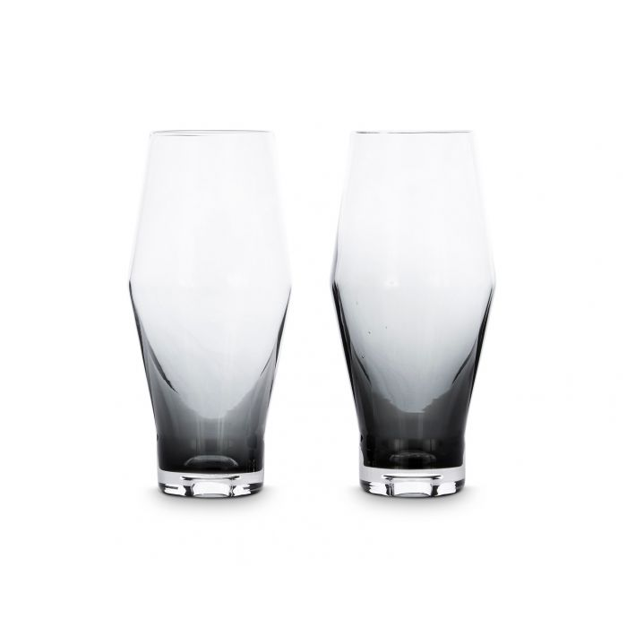TOM DIXON Tank Beer Glass Black (Set of 2) | The Source - Bath • Kitchen • Homewares