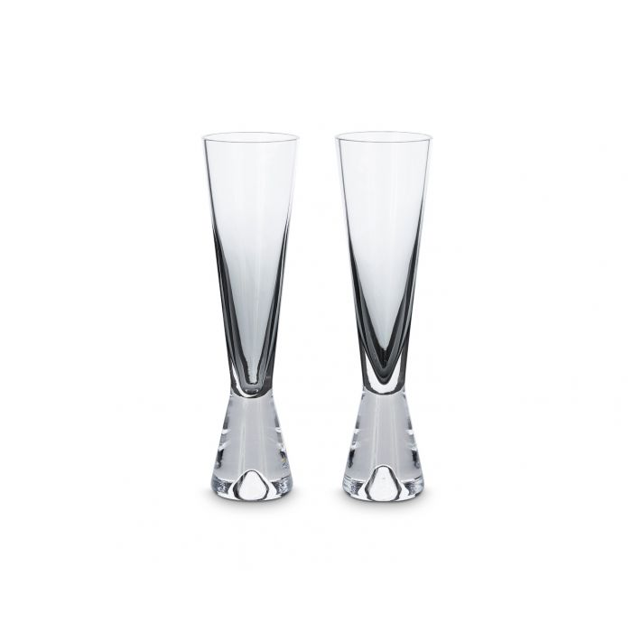 TOM DIXON Champagne Glass Black (Set of 2) | The Source - Bath • Kitchen • Homewares