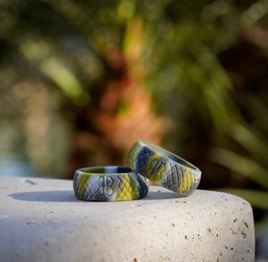 "Men's ""Rainforest Camo"" Silicone Ring"