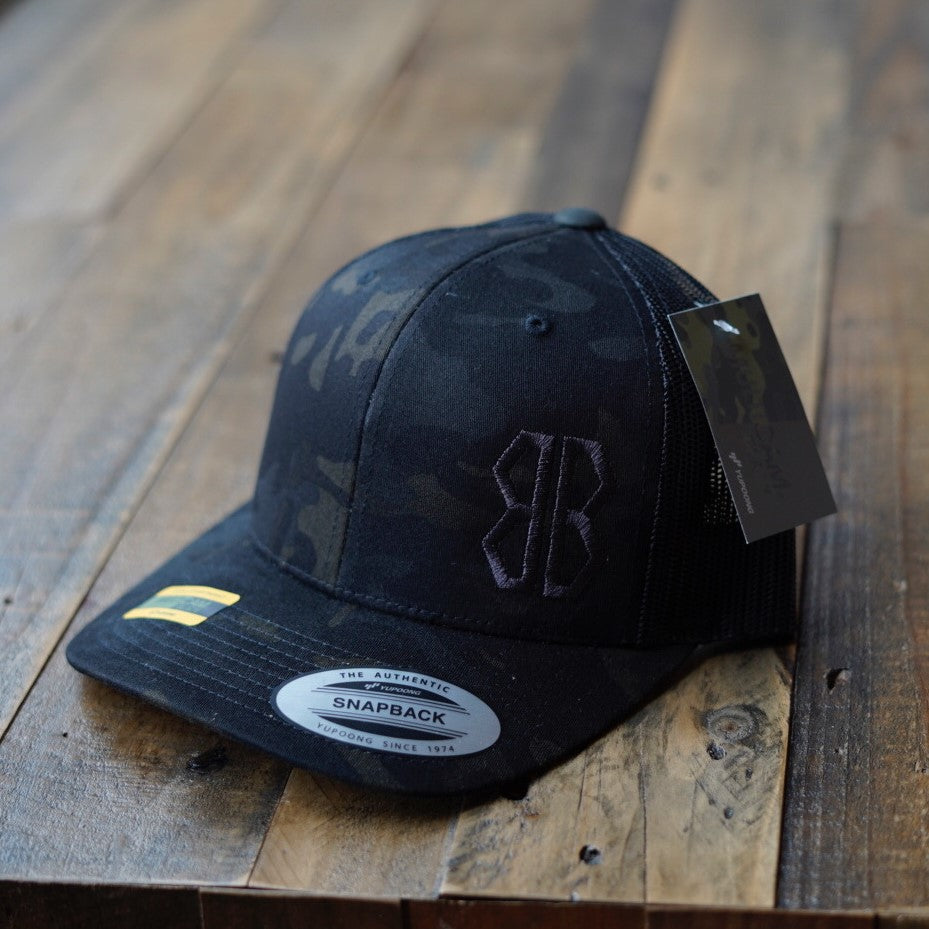 Black MultiCam® Logo Trucker Hat
