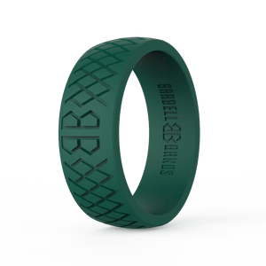 "Men's ""Forest Green"" Silicone Ring"
