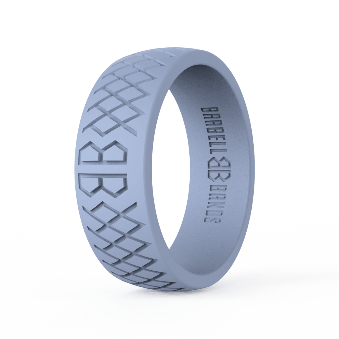 "Men's ""Light Gray"" Silicone Ring"