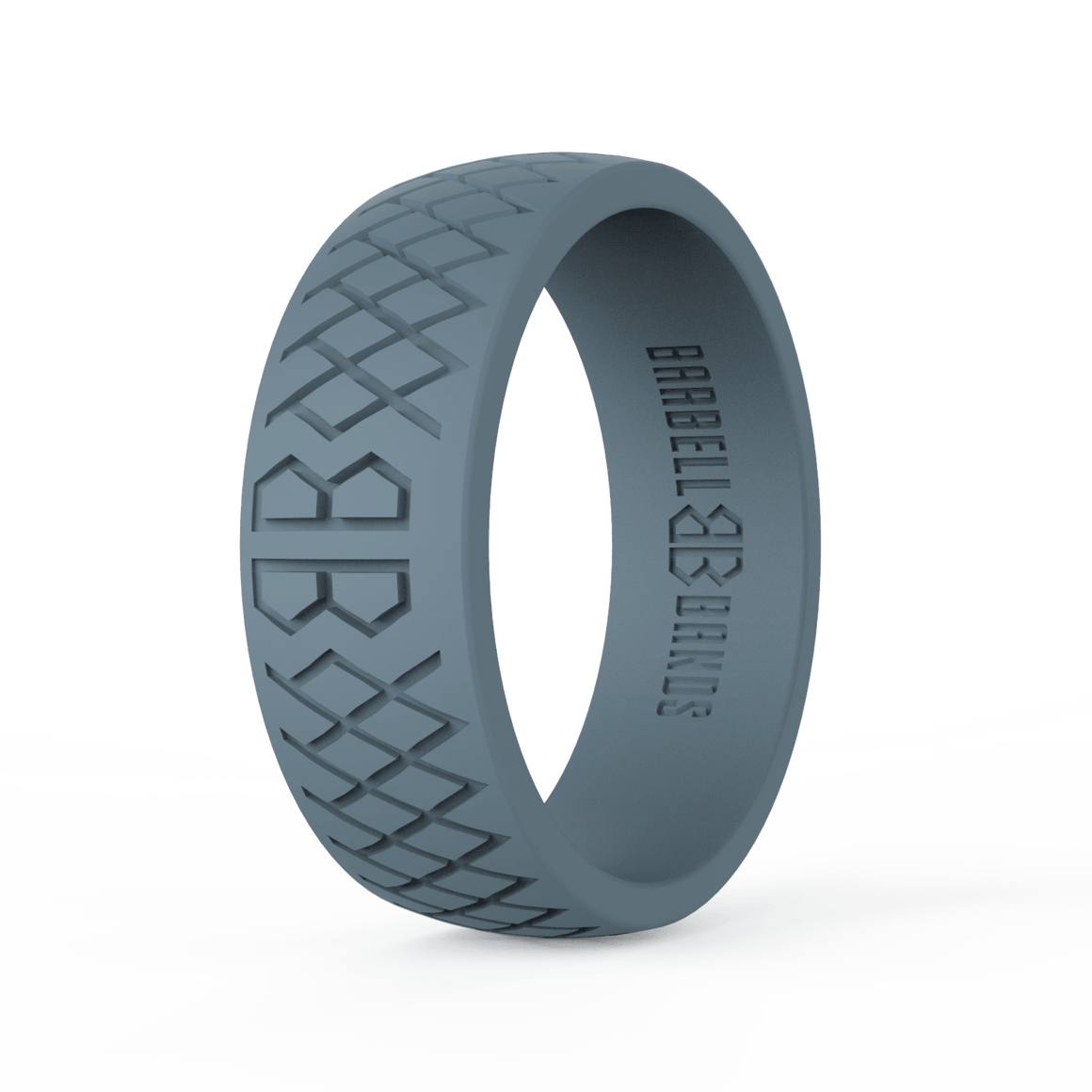 "Men's ""Steel Gray"" Silicone Ring"