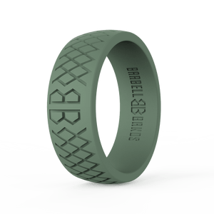 "Men's ""Tactical Green"" Silicone Ring"