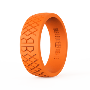 "Men's ""Blaze Orange"" Silicone Ring"