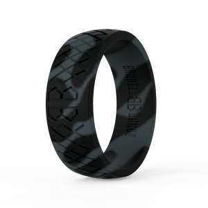 "Men's ""Black Camo"" Silicone Ring"