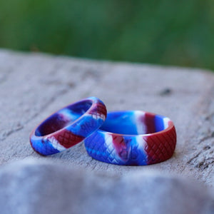 "Men's ""American Camo"" Silicone Ring"