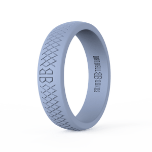 "Women's ""Light Gray"" Silicone Ring"