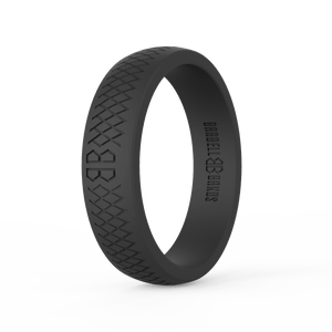 "Women's ""Black"" Silicone Ring"