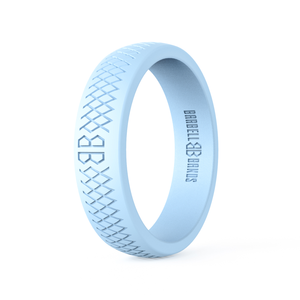 "Women's ""Ice Blue"" Silicone Ring"