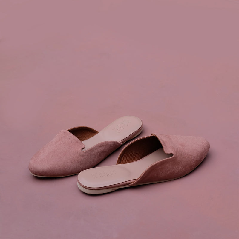 Drew in Dusty Pink Suede