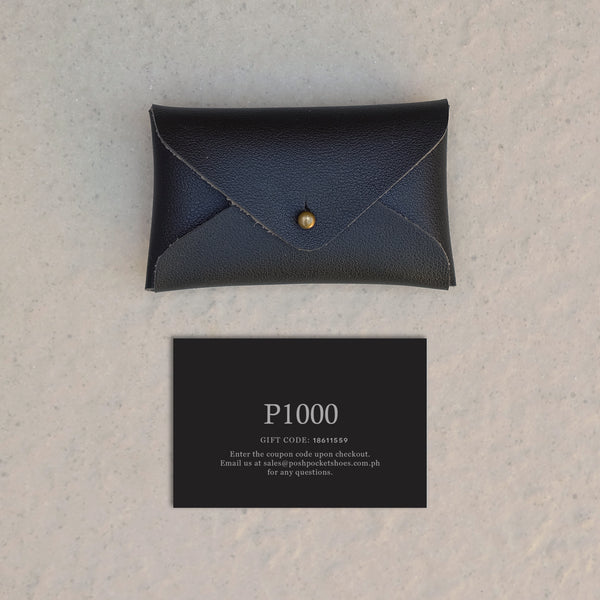 The Gift Card 1000 in Black
