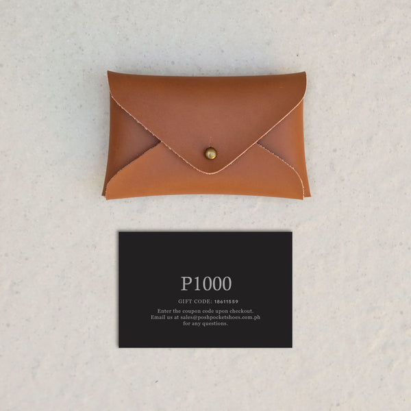 The Gift Card 1000 in Tan