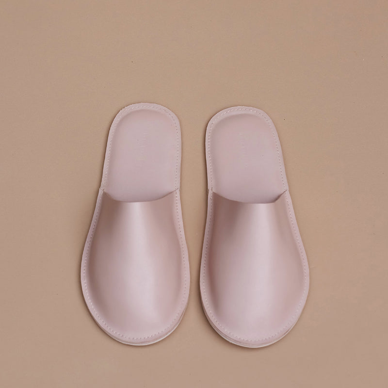 Lounge Slippers in Nude Leather