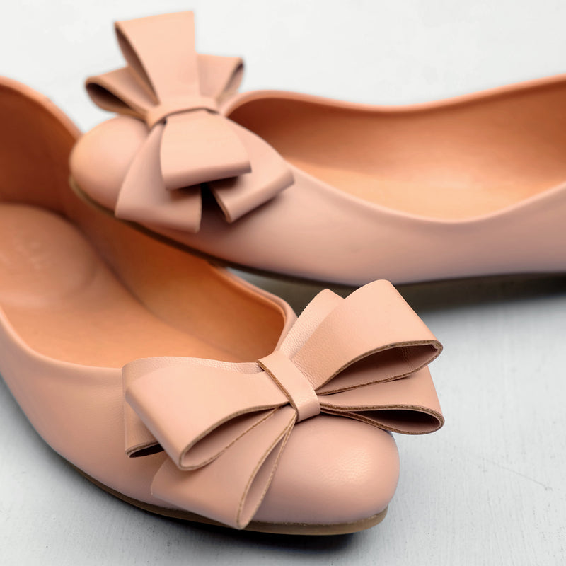 Pointy Bow in Blush
