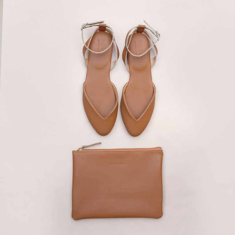 Pointy Mule in Tan