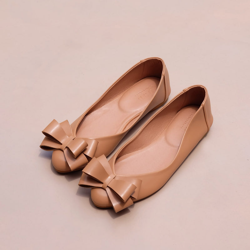 Pointy Bow in Light Camel